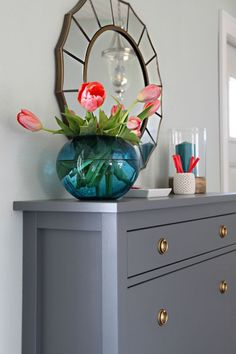 IKEA Hemnes is a classic dresser, simple, plain and suitable for many spaces. Be creative and hack it according to your decor style! Hemnes can be painted . Ikea Tjusig, Ikea Trones, Ikea Entryway, Apartment Entryway, Entryway Ideas, Entrada Ikea, Painting Ikea Furniture, Bedroom Furniture, Cheap Furniture