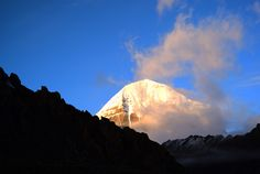 The sunrise of the holy mountain Kailash # http://www.tibet-tours.org/2017/07/top-holy-mountain-in-tibet-mt-kailash.html