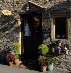 The Old Rectory Tea Room In Castle Combe, Wiltshire, UK.
