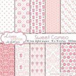 Free digital paper pack – Sweet Cameo Set