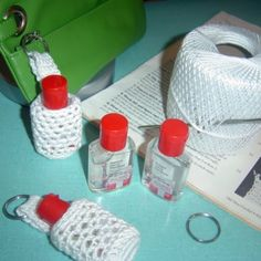 DIY Small Gift Ideas - Crochet Hand Sanitizer Carry Along