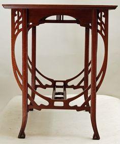 Art Nouveau Interior, Art Nouveau Furniture, Find Furniture, Antique Furniture, Furniture Design, Craftsman Interior, Victorian Art, Arte Floral, Arts And Crafts Movement