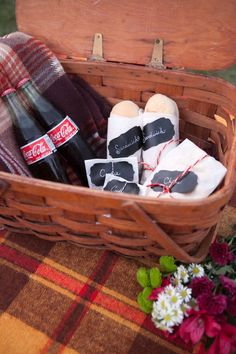 The perfect picnic - Old fashioned Coca Cola bottles & sandwhiches - Hetler Photography, Red Heels Events