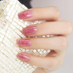 Glittering Pink #pink #glittering #nail #art #beauty #fashion
