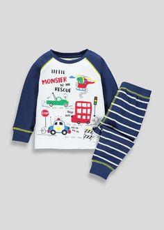 367adae5d Kids Monster Rescue Pyjama Set (9mths-5yrs) – Navy – Matalan Matalan,