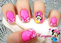 Minnie Mouse nails Minnie Mouse Nails, Mickey Minnie Mouse, Disney Nails, Mouse Parties, My Nails, Projects To Try, Cook, Beauty, Birthday