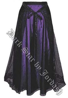 I found 'Dark Star Purple & Black Long Gothic Skirt with Lace Overskirt' on Wish, check it out!