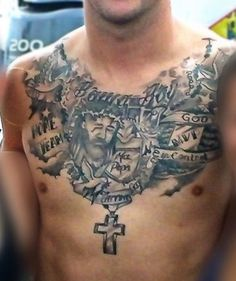 Jesus Tattoo Designs: The Jesus Tattoo Designs And Meaning For Men On Chest ~ tattooeve.com Tattoo Design Inspiration