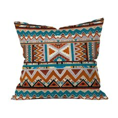 Deny Designs Cactus 1 Throw Pillow Cactus 1 Throw Pillow: Woven polyester pillow Features a printed design Designed by Kris Tate Bun insert Concealed zipper closure Material: Polyester Care: Machine washable Brand: Deny Designs Origin: United States Winter Bedding, Urban Cowboy, Beds For Sale, Southwestern Style, Dot And Bo, Bohemian Decor, Modern Bohemian, Furniture Collection, Geometric Shapes