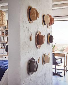 Hallway Furniture, Bamboo Furniture, Furniture Storage, Hanging Hats, Hat Storage, Storage Ideas, Hat Organization, Hat Display, Ikea Family