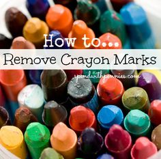 Ways to Remove Crayon from your walls, clothes and more!