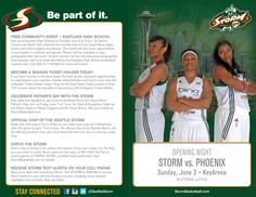 Seattle Storm: 2013 Roster Card