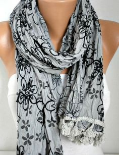 Gray Scarf  WInter Accessories Shawl Oversize Scarf Cowl Scarf Gift Ideas for Her Women Fashion Accessories Christmas Gift by anils on Etsy https://www.etsy.com/listing/210403363/gray-scarf-winter-accessories-shawl