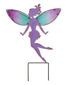 Look at this #zulilyfind! Large Purple Fairy Garden Stake by Regal Art & Gift #zulilyfinds