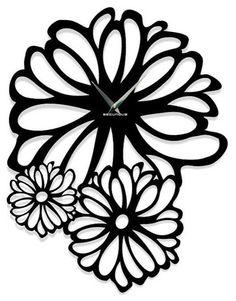Contemporary Flower Wall Clock