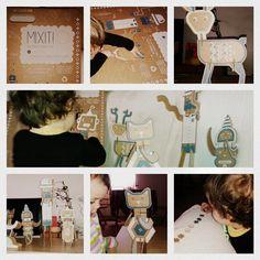 Maletin Mixit de Diego Lizan. Figuras en #carton #juguetes para #niños en #carton