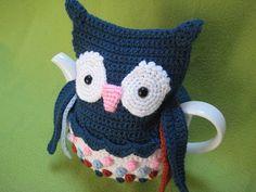 Crochet Pattern Tea Cosy  Owl PDF Cozy by Millionbells on Etsy, $5.99