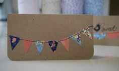Beautiful Bunting Part Paper Make Bunting, Bunting Ideas, Diy Crafts, Card Crafts, Card Making, Sewing, Paper, Birthday, Cotton
