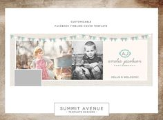 Facebook Timeline - Vintage Modern Banners by Summit Avenue...LOVE this design -- would love to have it as a blog design.