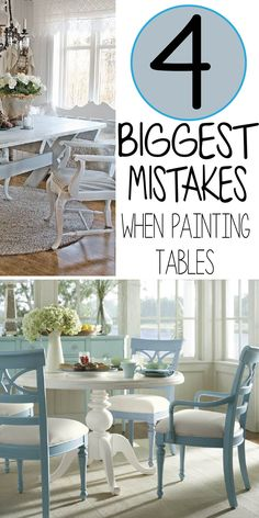 Read the 4 biggest mistakes people make when painting table themselves, it take a few minutes but saves you years of heartache!