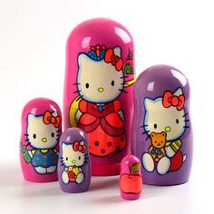 Hello Kitty 5pc Nesting Doll $68.99 www.therussianstore.com