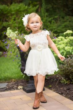 Vintage Charlotte Country Flower Girl Dress Online – D. Liles Collection, Ltd.