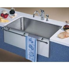 Blanco+440294+30''+Stainless+Steel+Apron+Front+Farm+Sink+with+Towel+Bar