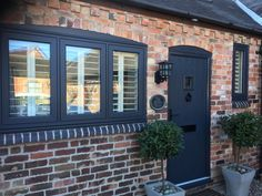 Eclectic Grey has more interesting undertones than a typical pure grey. Find out more about Residence Collection colours online. Barn Windows, Cottage Windows, Cottage Door, Upvc Windows, House Windows, Windows And Doors, Window Frame Colours, Grey Window Frames, Anthracite Grey Windows