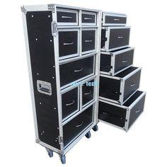 Multi-compartment wardrobe flight case storage flight case