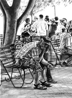 - - - - #art #pencil #drawing #artist #pencildrawing #graphitedrawing #realisticart #realism #blackandwhite #illustration #artistsonpinterest #picoftheday #bnwportraits #portraitdrawing #pencilart #graphite #realisticdrawing Pencil Art, Pencil Drawings, Fair Grounds, Inspiration, Painting, Waiting For Someone, Man Sitting, Drawings, Biblical Inspiration