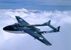De Havilland vampire Airplane History, De Havilland Vampire, Fixed Wing Aircraft, Aeroplanes, Royal Air Force, Private Jet, Luftwaffe, Royal Navy, Venom