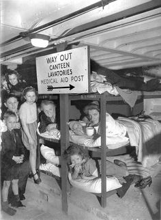 WWII air raid shelter in London