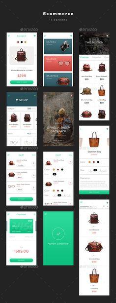 Mugen App UI KIT – Ecommerce - User Interfaces Web Elements