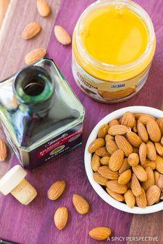 Making 3-Ingredient Almond Butter Balsamic Vinaigrette Recipe