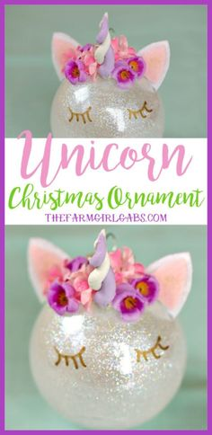 This magical Unicorn Christmas Ornament is an easy DIY ornament to make for your Christmas tree this year! : This magical Unicorn Christmas Ornament is an easy DIY ornament to make for your Christmas tree this year! Unicorn Christmas Ornament, Unicorn Ornaments, Diy Christmas Ornaments, Homemade Christmas, Diy Christmas Gifts, Simple Christmas, Holiday Crafts, Christmas Holidays, Christmas Decorations