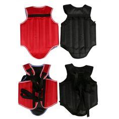 Cheap good quality MMA chest protectors back support body gear kick Boxing ProForce Male Sparring Fighting black chest guards