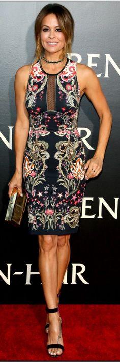 Brooke Burke-Charvet's : Dress – Roberto Cavalli Purse – Anya Hindmarch Shoes – Gianvito Rossi