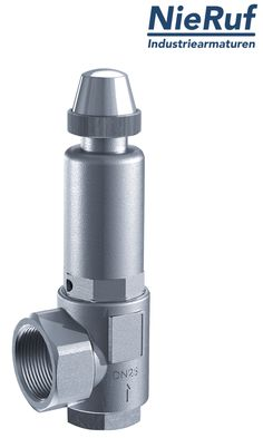 Das Sicherheitsventil aus dem Hause NieRuf wird in Rohrleitungssystemen eingebaut. es ist geeignet für gasförmige und flüssige Medien.
