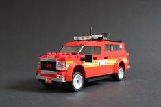 Lego City Fire Truck, Fire Trucks, Auto Lego, Legos, Lego Ambulance, Lego Bathroom, Lego Fire, Lego Room, Lego Design