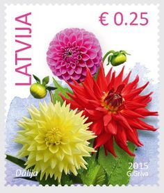 2015, Stamps of Latvia, Flowers