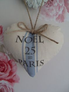 French+Noel+grainsack+style++25+blue+Ticking+by+Thelavenderhutcom,+$8.00