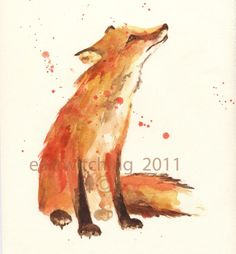 $19.00 This artist lives in Wales- must have. I think I'm going through a fox phase and I love it