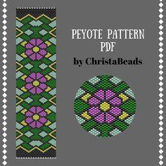 Peyote bracelet pattern peyote pattern Beading pattern Beaded