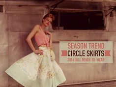 Circle Skirts Trend 2014 Trends, Ready To Wear, Ballet Skirt, Retro, Circle Skirts, Fall, Vintage Linen, How To Wear, Inspiration