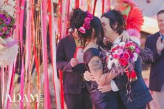 Adrienne + Billie Joe Armstrong | Neon Museum Wedding, Las Vegas