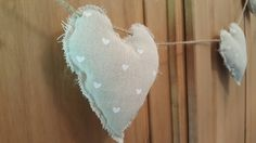 Rustic Heart Garland. Wedding Bunting. Home Decor by Twiddliebits on Etsy