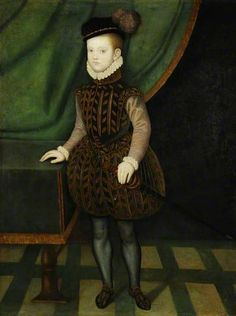 Portrait of Charles Stuart (1555–1576), later 5th Earl of Lennox, as a child. Brother of Henry Lord Darnley and father to Arabella. All of his immediate family lived through crazy circumstances that had a huge impact on the history of England and Scotland; yet his was a very short and quiet life.