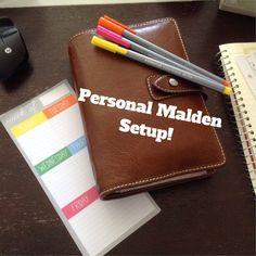 Filofax Personal Malden Setup - Lori Waters