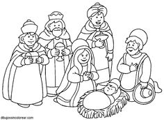 Dibujos de los Reyes Magos para imprimir y pintar  Pintar