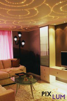 Gestaltet und dekoriert mit Licht. Mit dem LED Sternenhimmel System von PIXLUM könnt ihr vorhandene Muster nachstecken oder eigene kreieren! Wir zeigen euch wie's geht! Curtains, Led, Home Decor, Decorating, Pattern, Homemade Home Decor, Interior Design, Home Interiors, Decoration Home